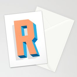 Letter R Stationery Cards
