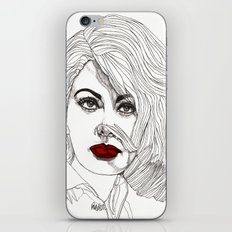 Sophia with Red Lips iPhone & iPod Skin
