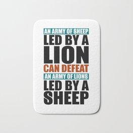 Led By A Lion Bath Mat