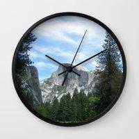 yosemite Wall Clocks featuring Yosemite by Angela McCall
