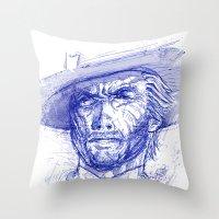 clint barton Throw Pillows featuring Clint by MOK designz