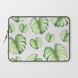 Watercolor monstera pattern Laptop Sleeve