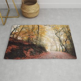 Path through the Autumn Forest Rug