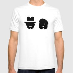 bonnie & clyde Mens Fitted Tee White SMALL