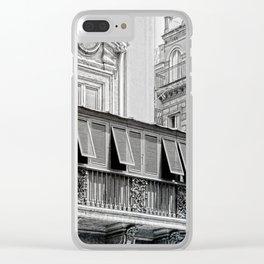 Roman city balcony Clear iPhone Case
