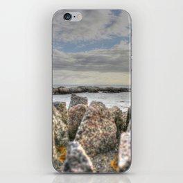 Sunset at shore iPhone Skin