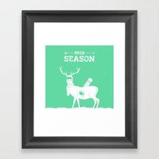 Pitch Season (Killed by work) Framed Art Print