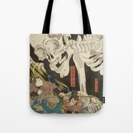 Utagawa Kuniyoshi  - Mitsukuni And The Skeleton Tote Bag