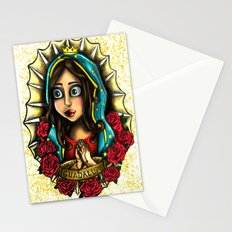 Lady Of Guadalupe (Virgen de Guadalupe) WHITE VERSION Stationery Cards