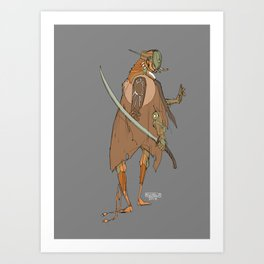 Robot with a Scimitar Art Print