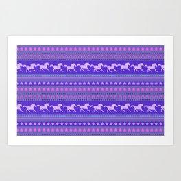 Horse Pattern Art Print