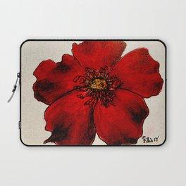 Red Winter Rose Laptop Sleeve