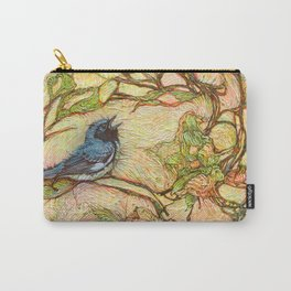 Lullaby (Black Throated Warblers) Carry-All Pouch