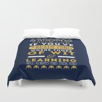 ravenclaw Duvet Covers featuring Ravenclaw by Dorothy Leigh