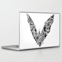 bat Laptop & iPad Skins featuring Bat by Gwyn Hockridge
