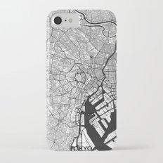 Tokyo Map Gray Slim Case iPhone 7