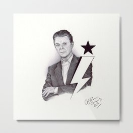 Starman - Ballpoint Pen Illustration Metal Print
