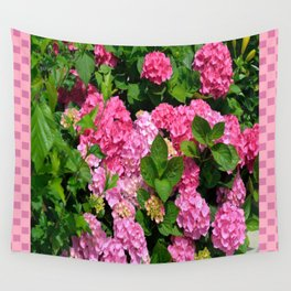 Pink Hydrangeas Wall Tapestry