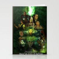 dragon age inquisition Stationery Cards featuring The Inquisition by Nero749