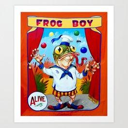 Frog Boy Art Print