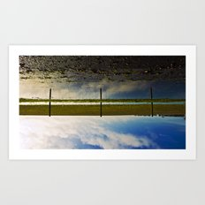 reflectively fenced... Art Print