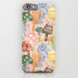 Folklore Mushrooms iPhone Case