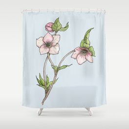 Lenten Rose Shower Curtain