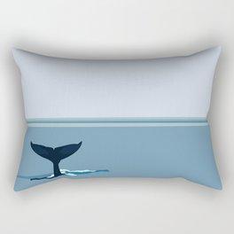 Whale Tail Rectangular Pillow