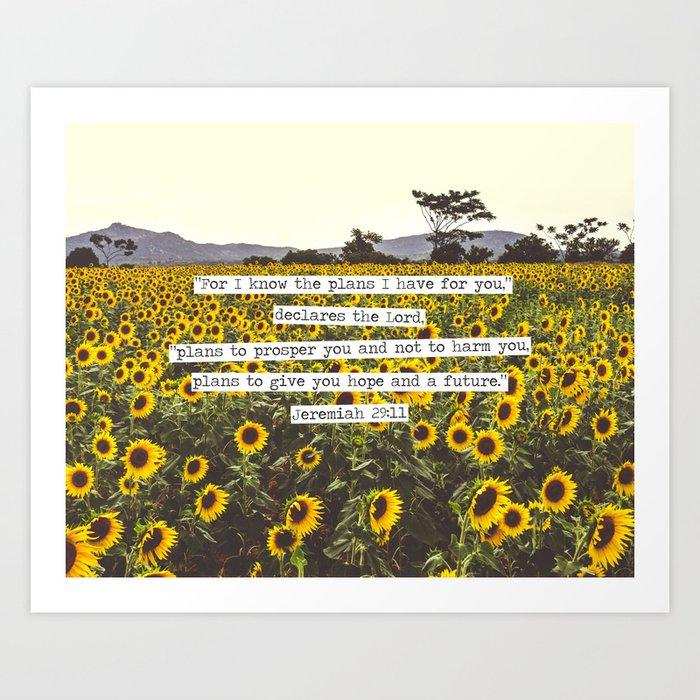 Jeremiah Sunflowers Kunstdrucke