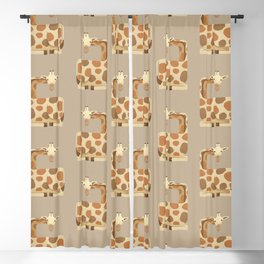 Whimsy Giraffe Blackout Curtain