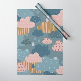 Blue Skies Wrapping Paper