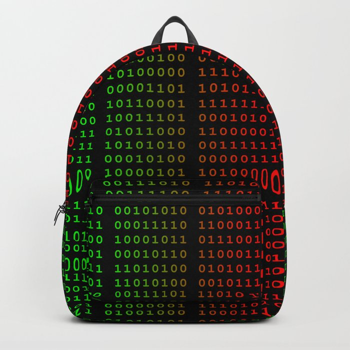 Binary Green and Red With Spaces Backpack