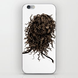 Messy dry curly hair 2 iPhone Skin