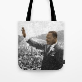 Martin Luther King Junior Wall Art Portrait, Speech, Home Decor, Dorm Decor, Freedom, Tote Bag
