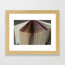 Fanned Book Framed Art Print