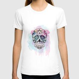 Watercolor Sugar Skull T-shirt