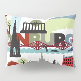 Edinburgh landmarks & monuments  Pillow Sham