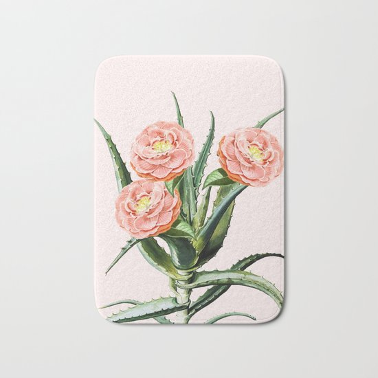 Blush Cactus || #society6 #decor #buyart Bath Mat