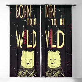 Born to be Wild Blackout Curtain