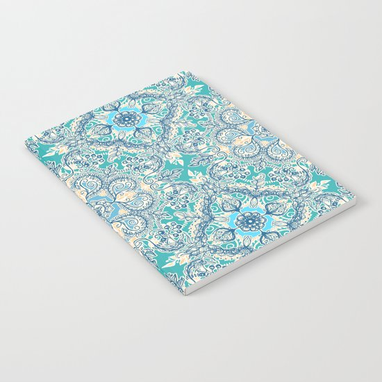 Gypsy Floral in Teal & Blue Notebook