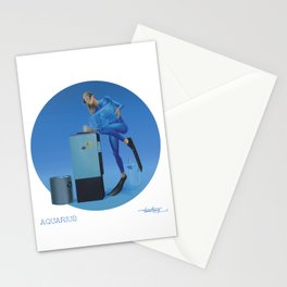 CALENDAR: AQUARIUS - by Pascal Stationery Cards