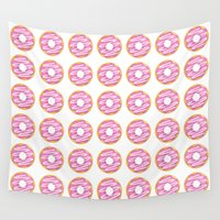 donuts Wall Tapestries featuring Donuts by A Little Leafy