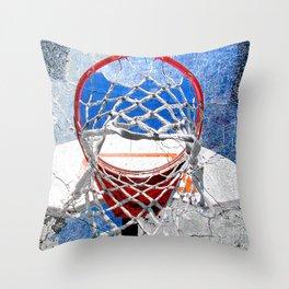 Contemporary basketball 3 Throw Pillow