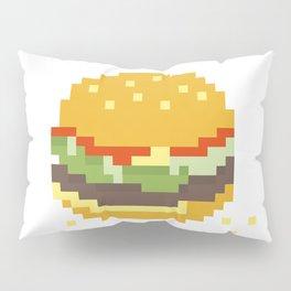 Pixel Burger Pillow Sham