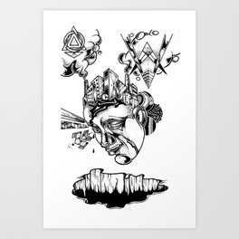 Concrete dreams Art Print