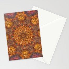 mandala 3 orange #mandala #orange Stationery Cards
