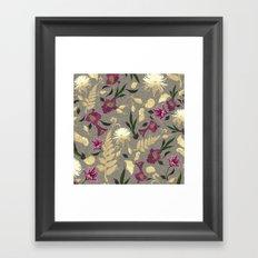 Flowers & Sea Shells Framed Art Print