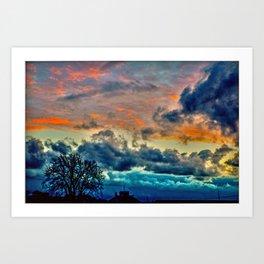 Sunset and Storm Art Print