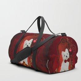 Cute little maltese puppy Duffle Bag