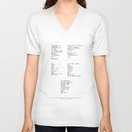 Bloc Party Discography - Music in Colour Code Unisex V-Neck